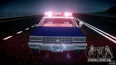 Chevrolet Impala Police 1983 [Final] para GTA 4 motor