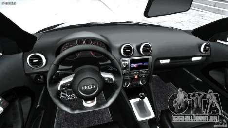 Audi S3 para GTA 4 vista de volta