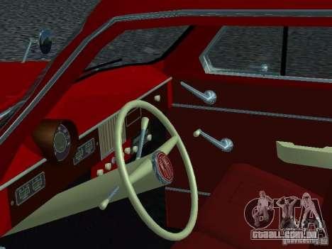 Moskvich 430 para GTA San Andreas vista traseira