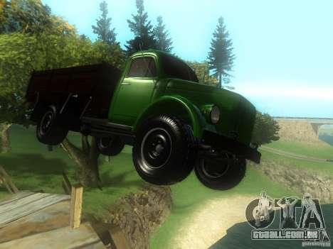 Gaz-63 para GTA San Andreas vista traseira