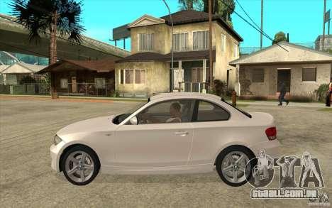 BMW 135i Coupe para GTA San Andreas traseira esquerda vista