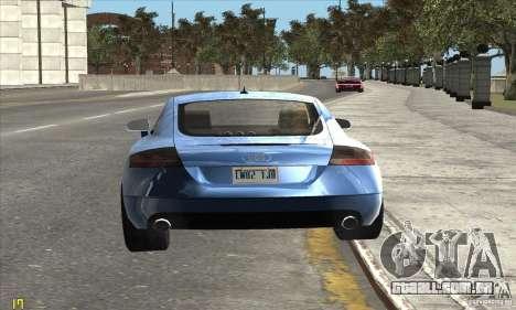 Audi TT 2006 para GTA San Andreas vista direita