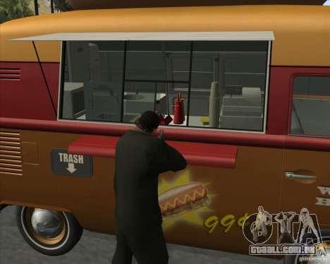 Volkswagen Transporter T1 Hot Dog para GTA San Andreas vista direita