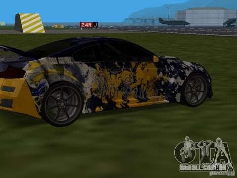 Infinity G35 Binsanity para GTA San Andreas traseira esquerda vista