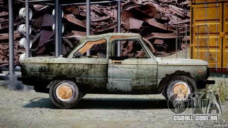 ZAZ 968M esfarrapado para GTA 4 vista de volta