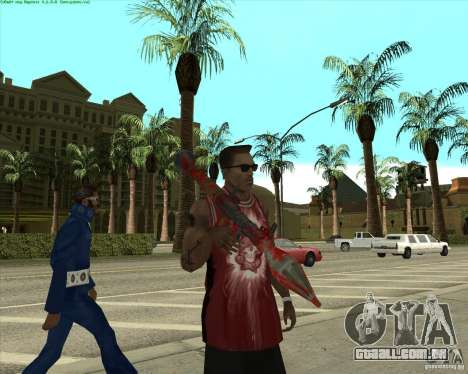 Blood Weapons Pack para GTA San Andreas décimo tela