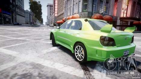 Subaru Impreza STI Wide Body para GTA 4 vista inferior