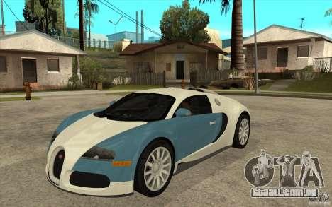 Bugatti Veyron Final para GTA San Andreas