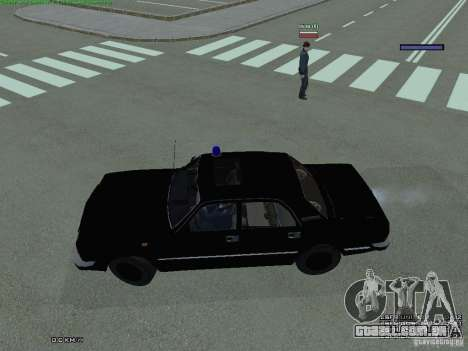 FEDERAL de Volga para GTA San Andreas esquerda vista