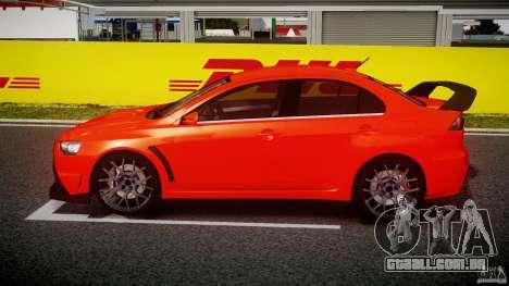 Mitsubishi Lancer Evo X 2011 para GTA 4 esquerda vista