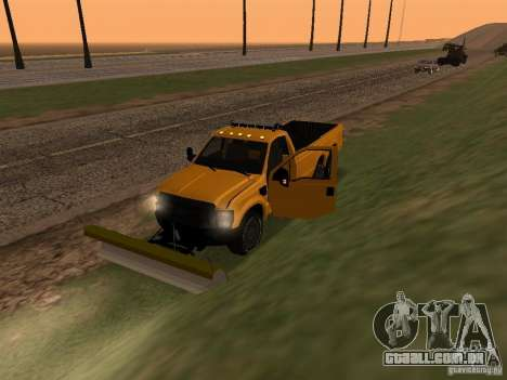 Ford Super Duty F-series para GTA San Andreas vista traseira