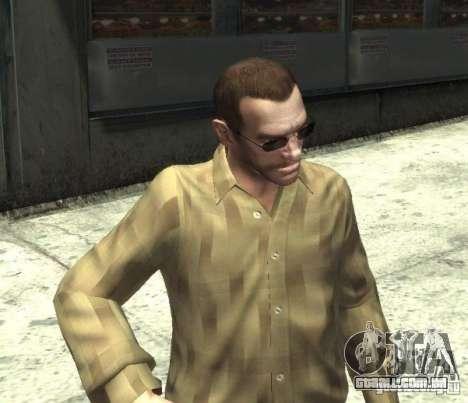 Novos óculos para Niko-escuro para GTA 4 terceira tela