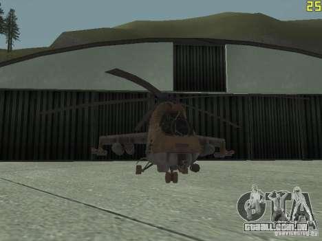 Mi-24p Desert Camo para vista lateral GTA San Andreas