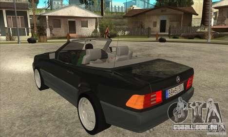 Mercedes SL-class 1995 para GTA San Andreas traseira esquerda vista