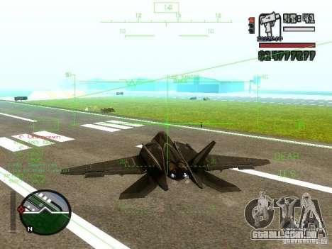 Xa-20 razorback para GTA San Andreas esquerda vista