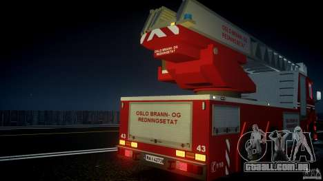 Scania Fire Ladder v1.1 Emerglights blue [ELS] para GTA 4 interior