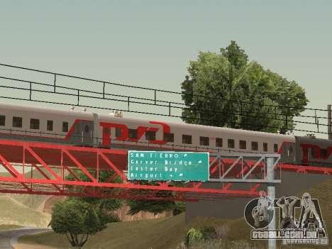 Carro de passageiro RZD para GTA San Andreas esquerda vista