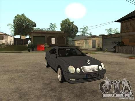 Mercedes-Benz CLK320 Coupe para GTA San Andreas vista traseira