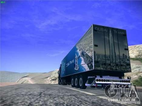 Trailer de Scania R620 Dubai Trans para GTA San Andreas