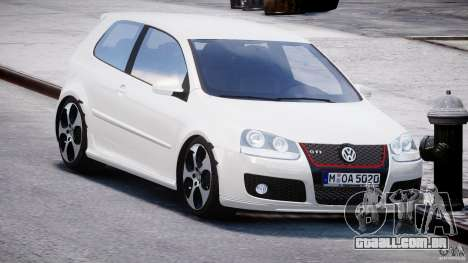 Volkswagen Golf GTI 2006 v1.0 para GTA 4 vista de volta