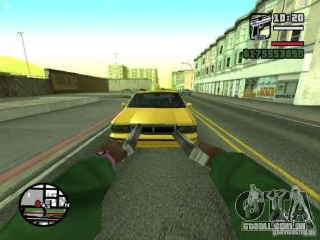 Primeira pessoa (primeira pessoa mod) para GTA San Andreas nono tela