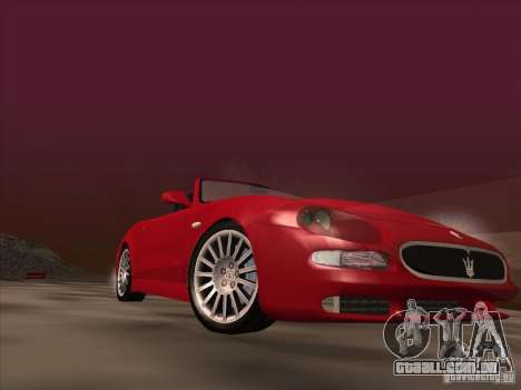 Maserati Spyder Cambiocorsa para GTA San Andreas vista inferior