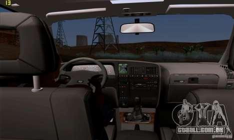 Opel Omega A Diamant Stock para GTA San Andreas vista interior