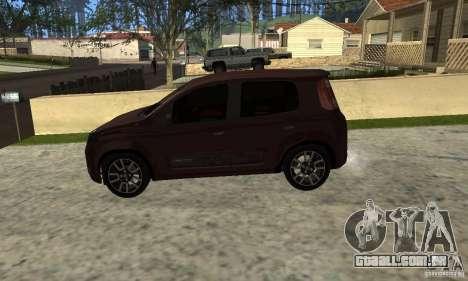 Fiat Novo Uno Sporting para GTA San Andreas vista direita
