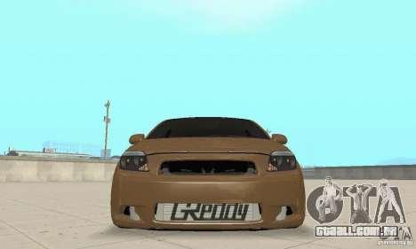 Toyota Scion tC Edited para GTA San Andreas vista traseira