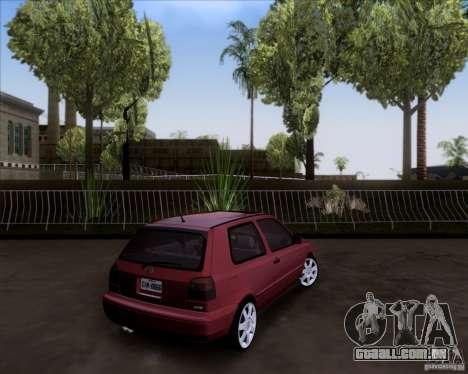 Volkswagen Golf MK3 VR6 para GTA San Andreas esquerda vista