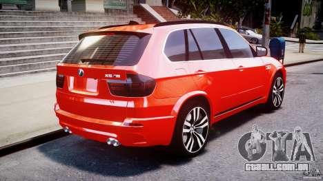 BMW X5M Chrome para GTA 4 traseira esquerda vista