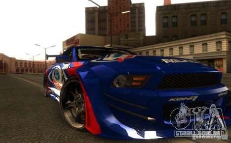 Ford Mustang Shelby GT500 V1.0 para GTA San Andreas traseira esquerda vista