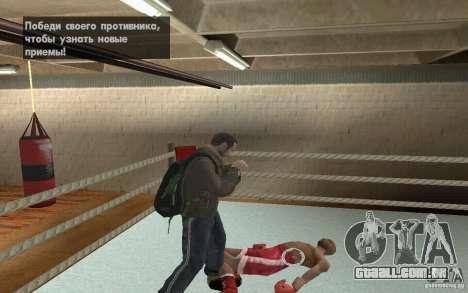 O sistema de luta do GTA IV V 3.0 para GTA San Andreas por diante tela