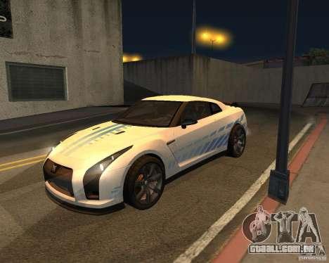 Nissan GT-R Pronto para GTA San Andreas vista interior