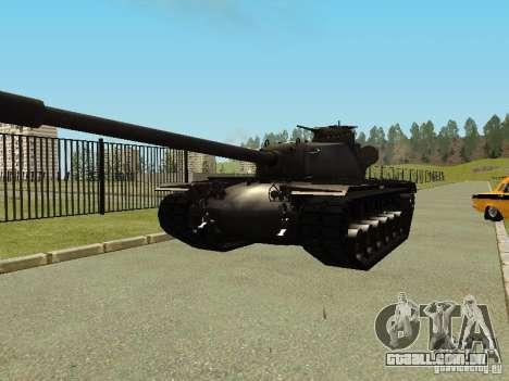 T-110E5 para GTA San Andreas vista traseira