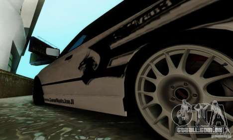 BMW E34 540i Tunable para GTA San Andreas vista superior
