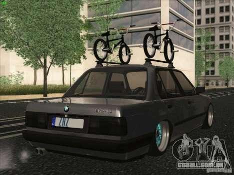 BMW E30 Rat para GTA San Andreas esquerda vista