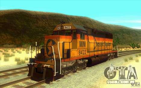 Chessie System sd40-2 para GTA San Andreas