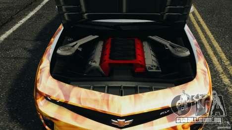 Chevrolet Camaro ZL1 2012 v1.0 Flames para GTA 4 interior