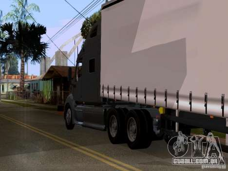 Peterbilt 389 para GTA San Andreas vista traseira