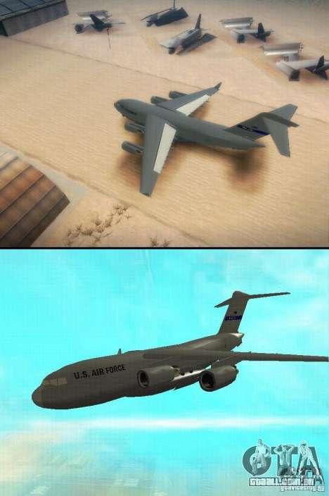 C-17 Globemaster para GTA San Andreas