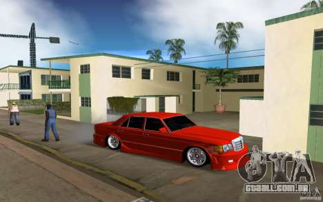 Mercedes-Benz W126 Wild Stile Edition para GTA Vice City vista traseira esquerda