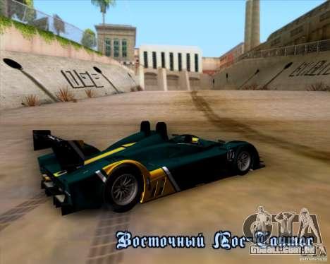 Caterham Lola SP300R para vista lateral GTA San Andreas