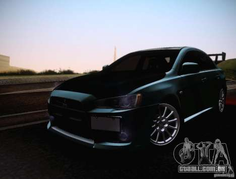 Mitsubishi Lancer Evolution Drift Edition para GTA San Andreas vista interior