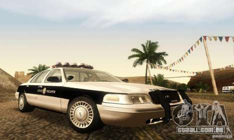 Ford Crown Victoria New Corolina Police para GTA San Andreas