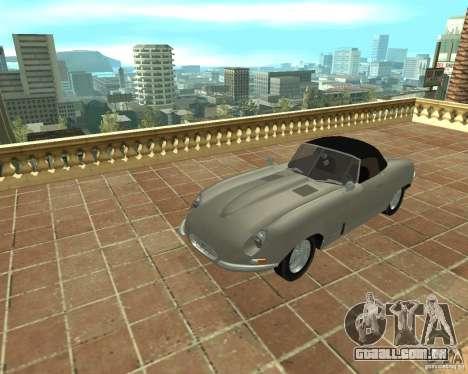 Jaguar E-Type 1963 para GTA San Andreas vista direita