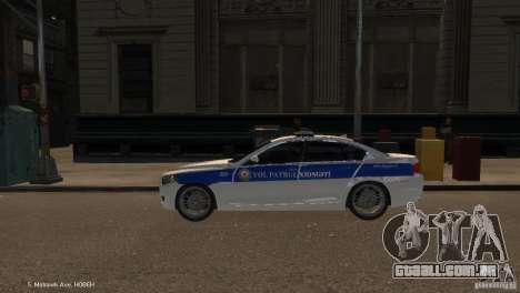 BMW 550i Azeri Police YPX para GTA 4 esquerda vista