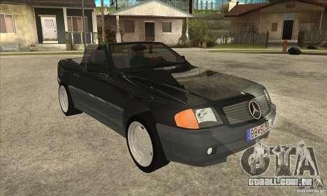 Mercedes SL-class 1995 para GTA San Andreas vista traseira