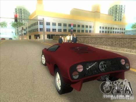 Infernus do GTA IV para GTA Vice City vista direita