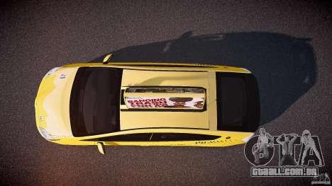 Toyota Prius LCC Taxi 2011 para GTA 4 vista direita